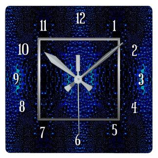 Abstract Raindrops Pattern Square Wall Clock