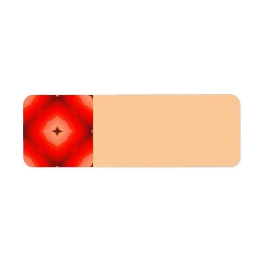 ABSTRACT RANDOM FRACTALS RED BURGUNDY DAZED FRACTA LABEL