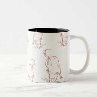Abstract rat line work mug