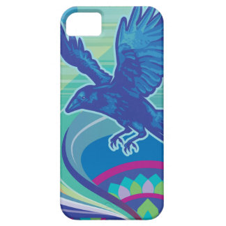 Abstract Raven (cropped) phone case