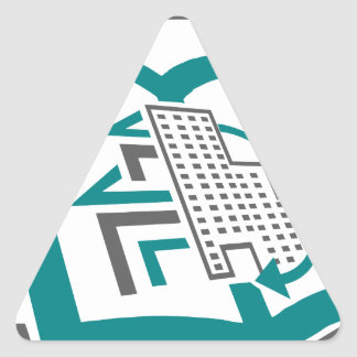 Abstract realestate triangle sticker