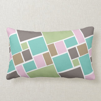 Abstract Rectangle  and squares  pattern Throw Pillow