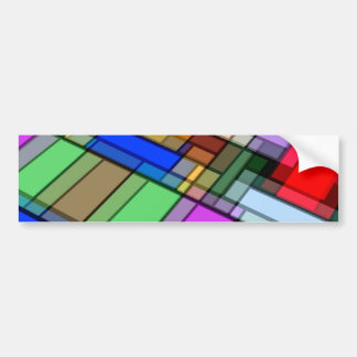 Abstract Rectangles Bumper Stickers