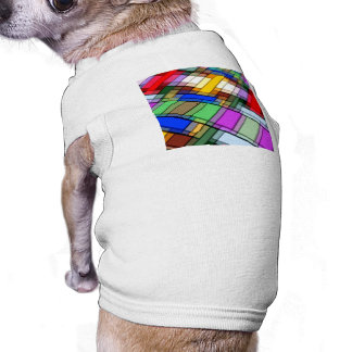 Abstract Rectangles Pet Tshirt