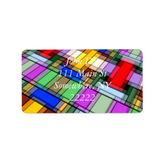 Abstract Rectangles Label