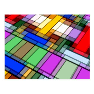 Abstract Rectangles Postcard