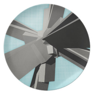 Abstract Rectangular Slabs Party Plate