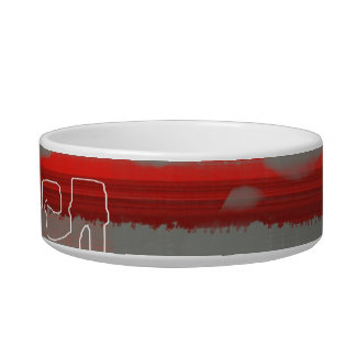 Abstract Red 1 Bowl