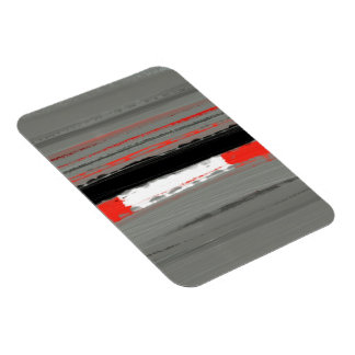 Abstract Red 4 Magnet