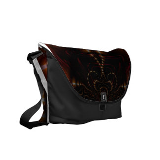 abstract red and black messenger bag