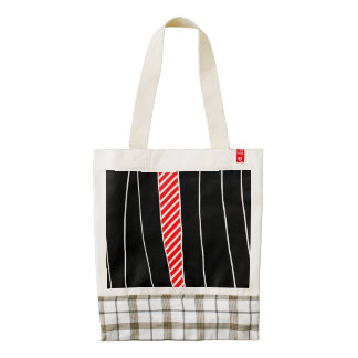 Abstract red and black zazzle HEART tote bag