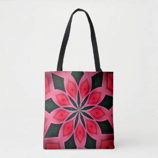 Abstract Red And Dark Green Pattern Background Tote Bag