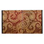Abstract Red and Gold Floral Pattern iPad Folio Covers