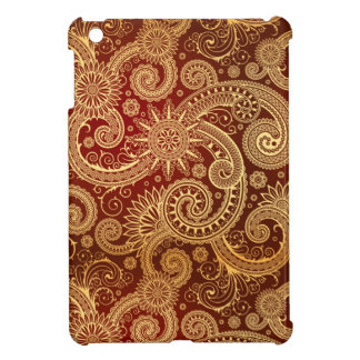 Abstract Red and Gold Floral Pattern iPad Mini Case