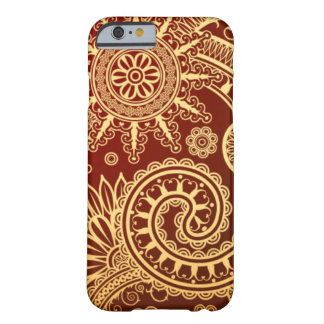 Abstract Red and Gold Floral Pattern iPhone 6 Case