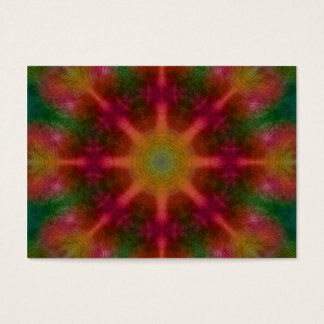 Abstract red and green kaleidoscope business card