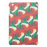 Abstract Red and Green Speck Case Cover For The iPad Mini