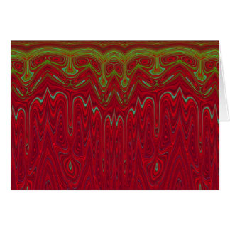 Abstract Red and Green Tribal Design Card