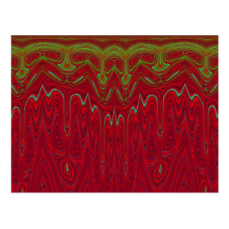 Abstract Red and Green Tribal Design Postcard