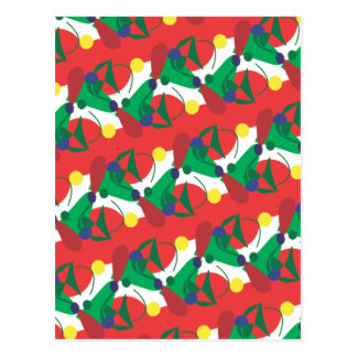 Abstract Red and Green Vertical Postcard