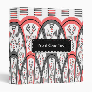 Abstract red and grey 3 ring binder