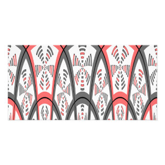 Abstract red and grey card