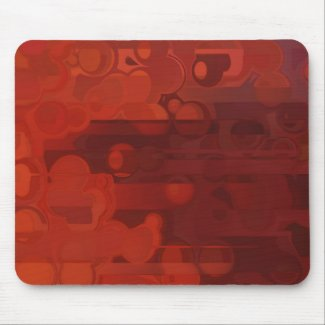 Abstract Red and Orange mousepad