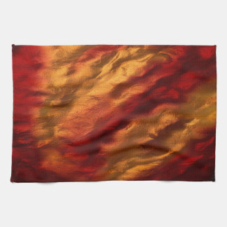 Abstract Red And Orange Texture Hand Towels