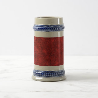 Abstract Red Background Beer Stein