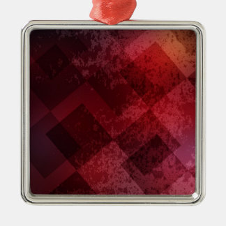 Abstract red background metal ornament