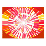 Abstract red background post cards