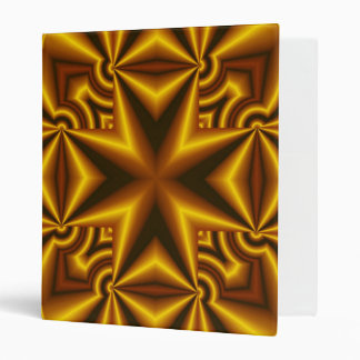 Abstract red, black  and yellow Pattern Cross Binder