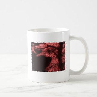 Abstract Red & Black Asian Tree Coffee Mug