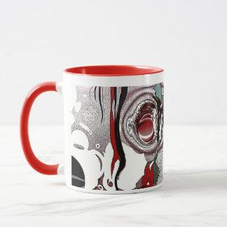 Abstract - Red / Black - Growing Flashback Mug