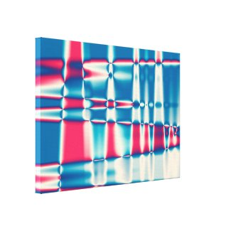 Abstract red blue pattern gallery wrapped canvas
