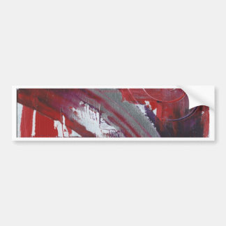 Abstract Red Bumper Sticker