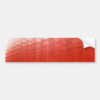 Abstract Red Construct: Bumper Sticker