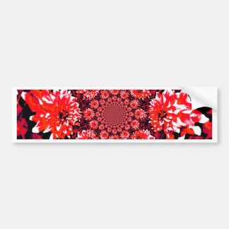 Abstract Red Dahlia Bumper Sticker