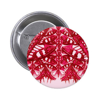 abstract red design 2 inch round button