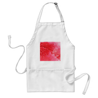 Abstract red design adult apron