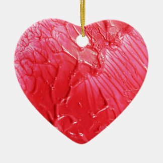Abstract red design ceramic ornament