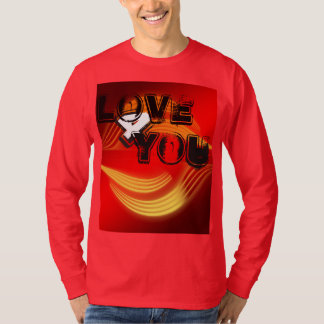 Abstract Red Design Mens Basic Long Sleeve T-Shirt