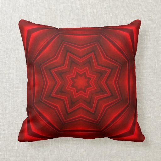 Abstract Red Design Throw Pillows