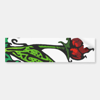 Abstract Red Flower Bumper Sticker