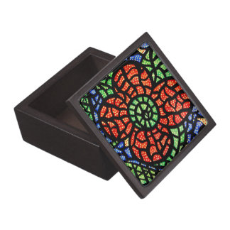 Abstract Red Flower Gift Box