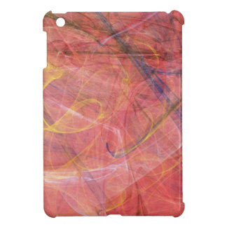 Abstract red fractal cover for the iPad mini