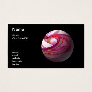 Abstract Red Globe Business Card