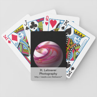Abstract Red Globe Bicycle Playing Cards