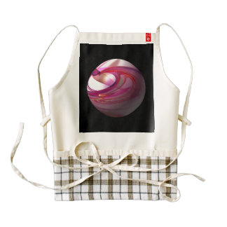 Abstract Red Globe Zazzle HEART Apron