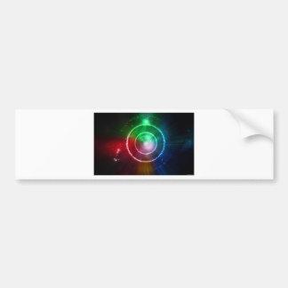 Abstract Red Green Blue Light Focus Bumper Sticker